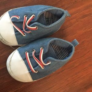 Baby boy carter shoes blue/white and red